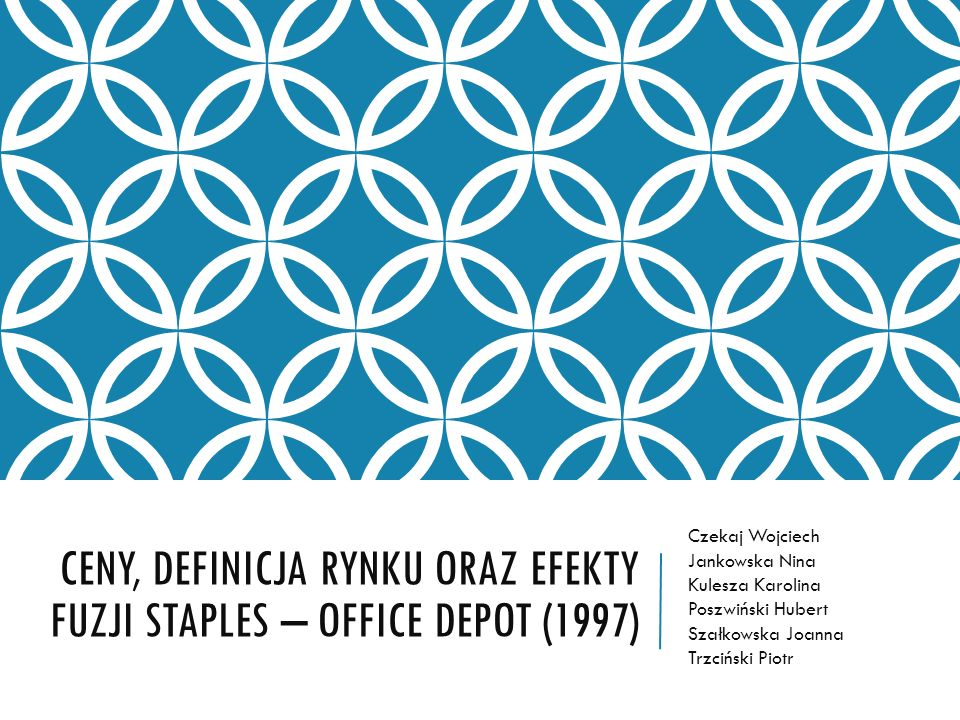 STAPLES, OFFICE DEPOT StaplesOffice Depot Od 1986 r.