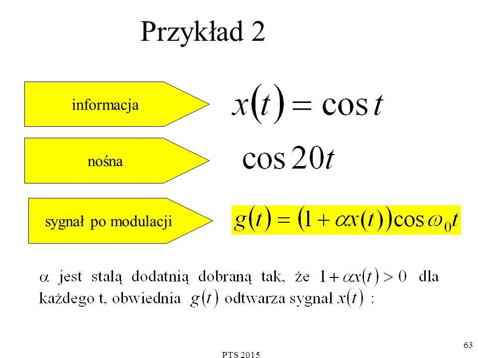 PTS 2015 63 Przykład 2 informacja nośna sygnał po modulacji