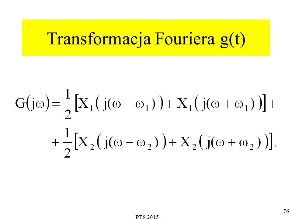 Transformacja Fouriera g(t) 76 PTS 2015