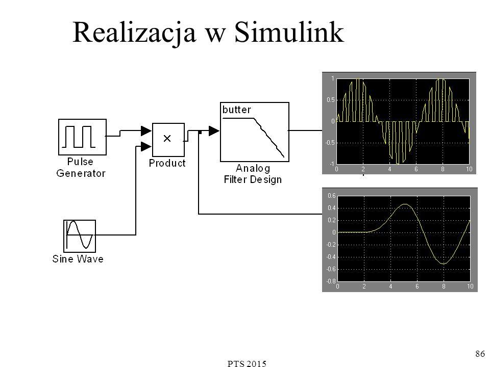 PTS 2015 86 Realizacja w Simulink