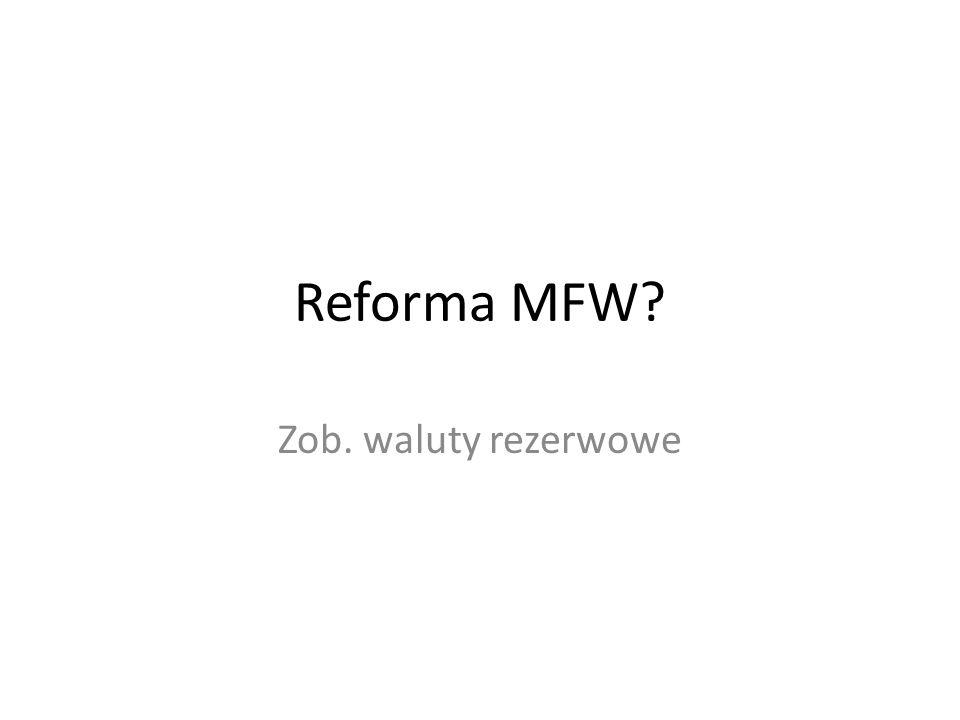 Reforma MFW? Zob. waluty rezerwowe