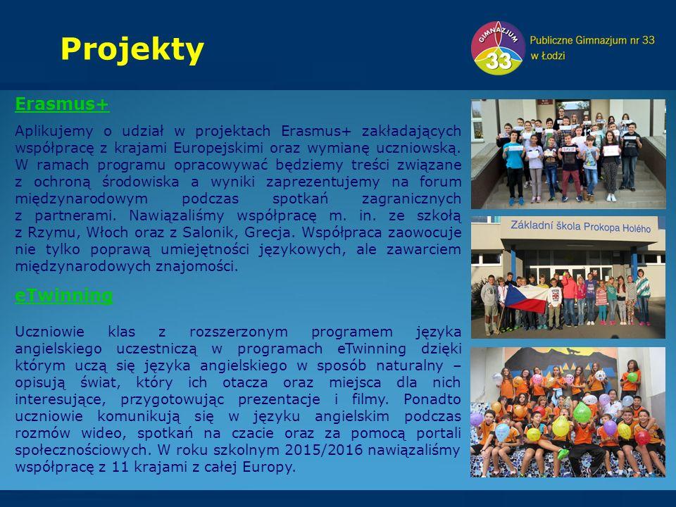 Erasmus+ Aplikujemy o udział w projektach Erasmus+ zakładających współpracę z krajami Europejskimi oraz wymianę uczniowską.