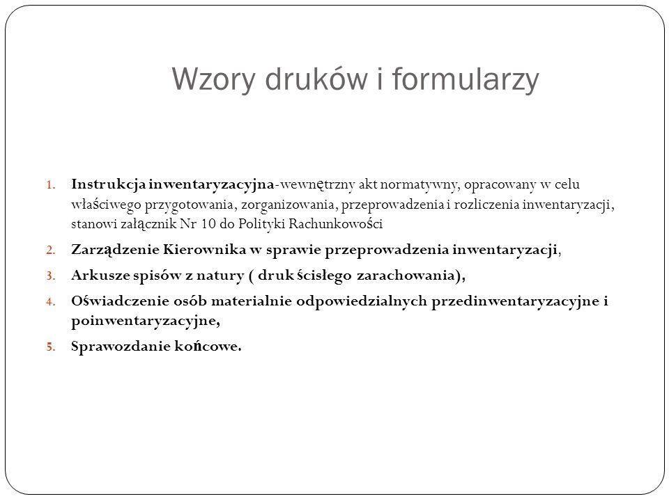 Wzory druków i formularzy 1.