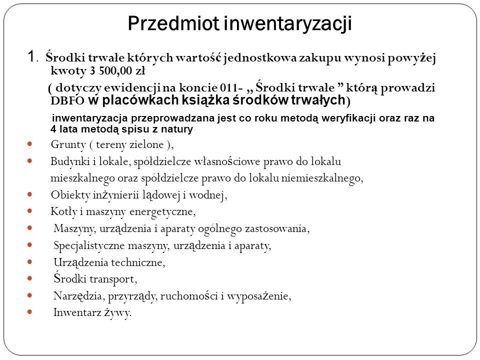 Przedmiot inwentaryzacji 1.