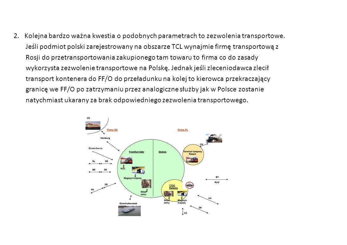 2. Kolejna bardzo ważna kwestia o podobnych parametrach to zezwolenia transportowe.
