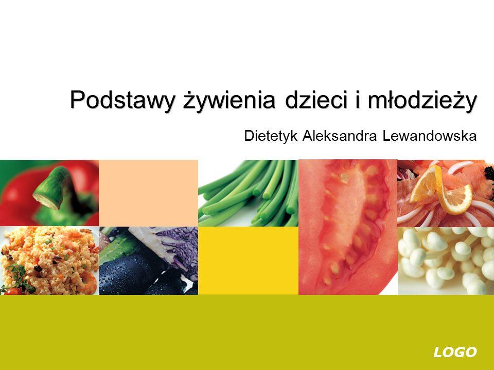 LOGO Dietetyk Aleksandra Lewandowska Podstawy żywienia dzieci i młodzieży