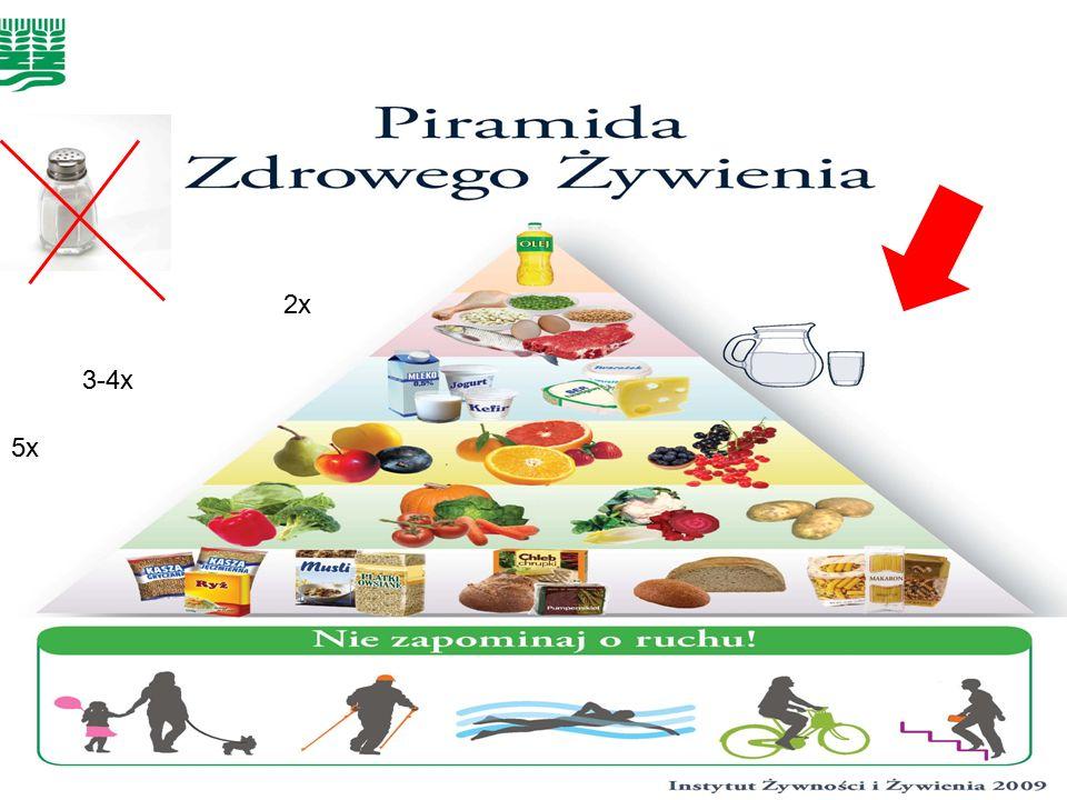 LOGO Piramida zdrowego żywienia 3-4x 2x 5x