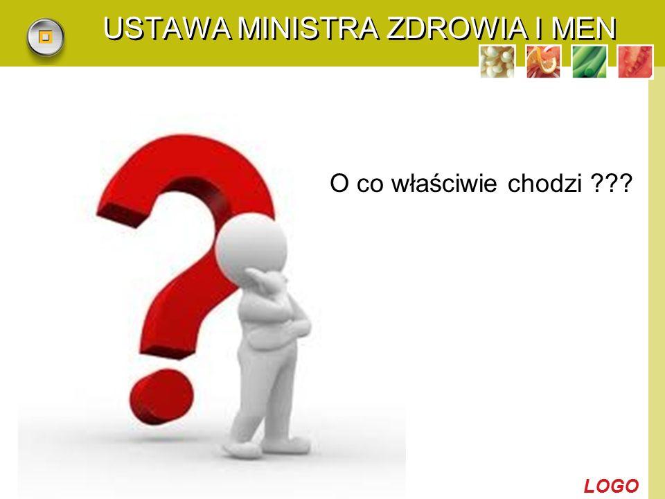 LOGO USTAWA MINISTRA ZDROWIA I MEN O co właściwie chodzi ???