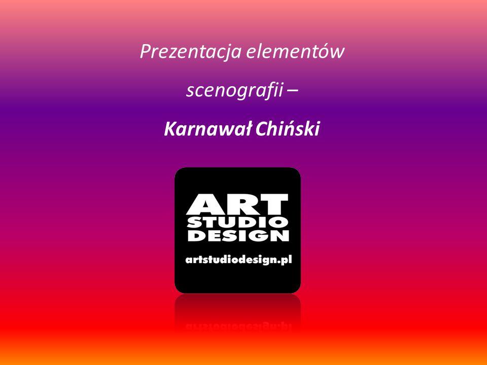 Ogólny zarys koncepcji scenograficznej - Chiński Karnawał Tańce smoków, kolorowe fajerwerki i pokazy światło i woda – tak w wielkim skrócie można scharakteryzować Chiński Karnawał.
