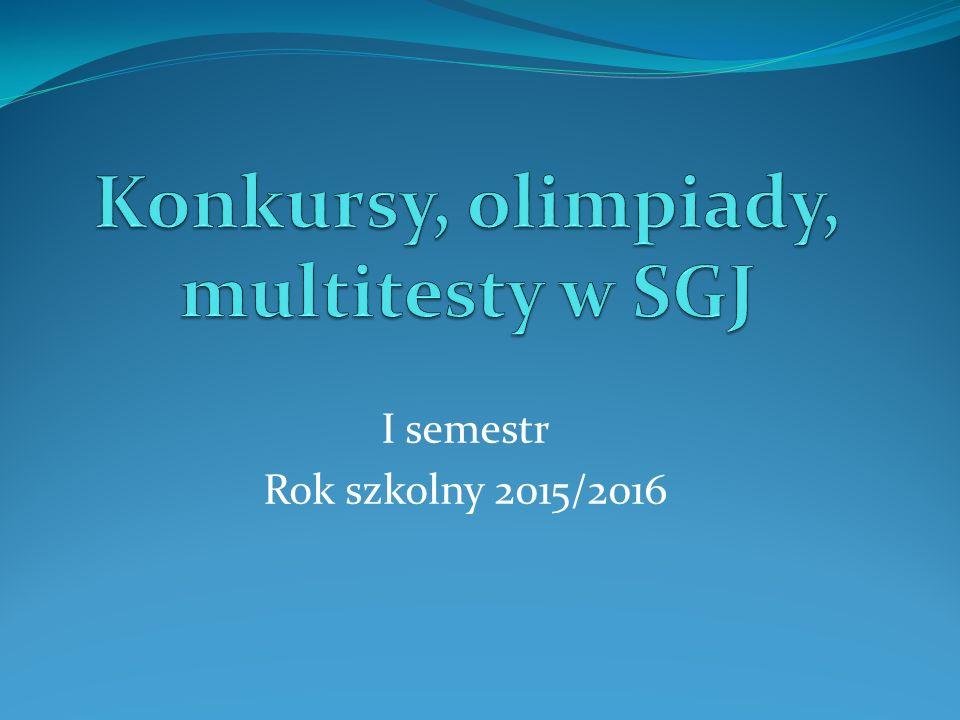 Chemia Julia Duwe Artur Kamieniecki – wyróżnienie – 13 msc w kraju Julia Kochanowska Jan Tarraro