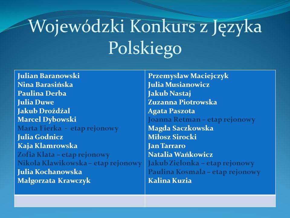 Wojewódzki Konkurs z Informatyki Julia Duwe Grzegorz Kodrzycki Artur Kamieniecki Paweł Labudda Mikołaj Seniuk