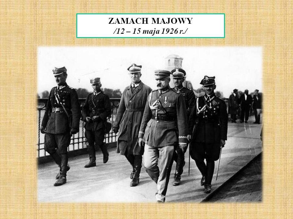 ZAMACH MAJOWY /12 – 15 maja 1926 r./