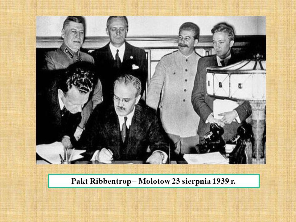 Pakt Ribbentrop – Mołotow 23 sierpnia 1939 r.