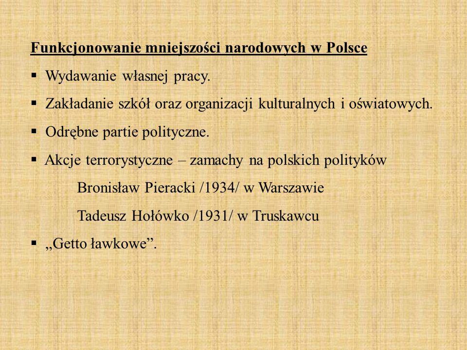 Funkcjonowanie mniejszości narodowych w Polsce  Wydawanie własnej pracy.