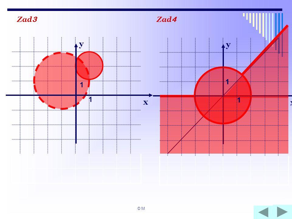 x y Zad 3 Zad 4 x y 1 1 1 1 1 1 © M