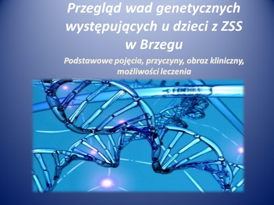 Podstawowe pojęcia, przyczyny, obraz kliniczny, możliwości leczenia Przegląd wad genetycznych występujących u dzieci z ZSS w Brzegu