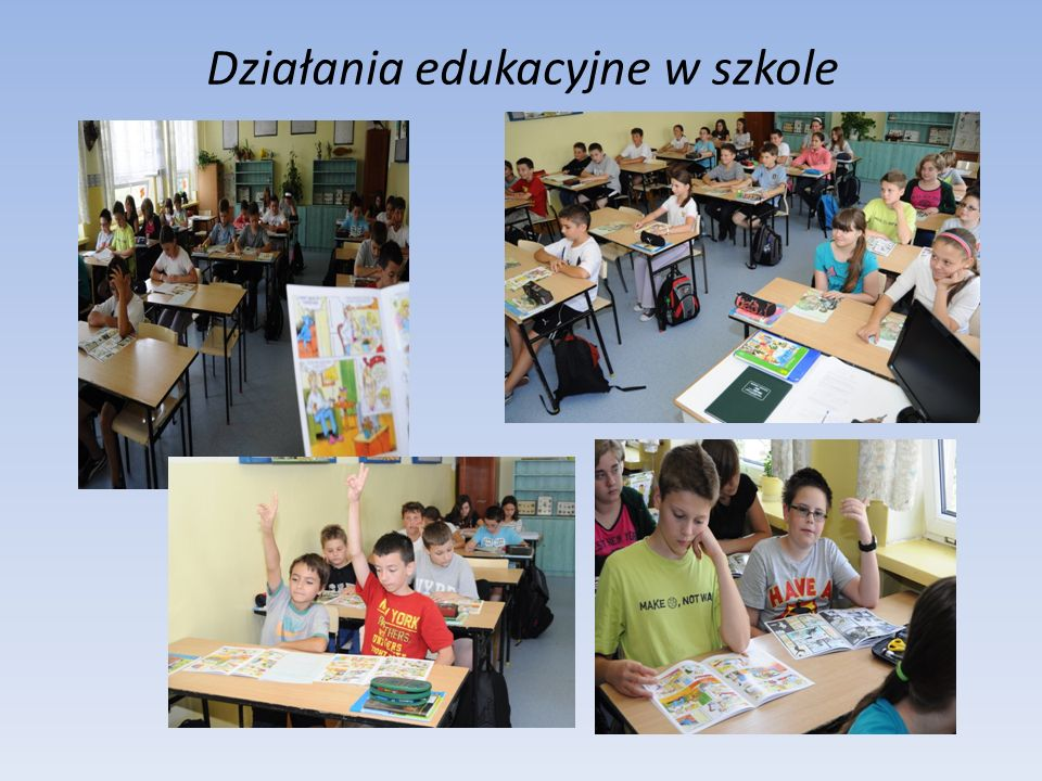 Działania edukacyjne w szkole