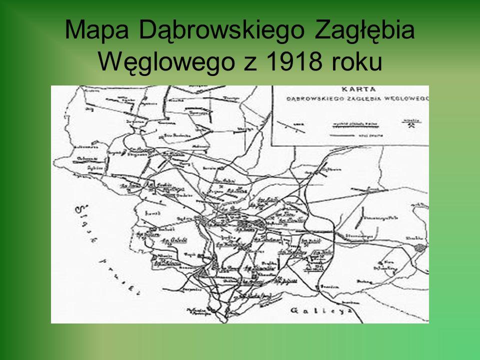 HISTORIA MIASTA Pierwsza wzmianka o Dąbrowie pojawiła się w 1726, a pochodzi z ksiąg parafialnych kościoła Świętej Trójcy w Będzinie, w których pod da