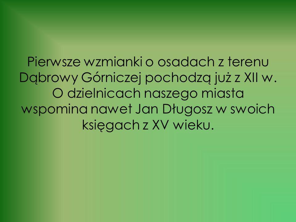 Pierwsze wzmianki o osadach z terenu Dąbrowy Górniczej pochodzą już z XII w.