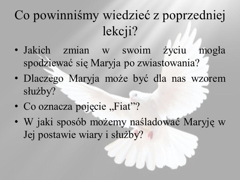 Pismo św.o Maryi Łk 1,28, Ga 4,4-6 Podręcznik str.