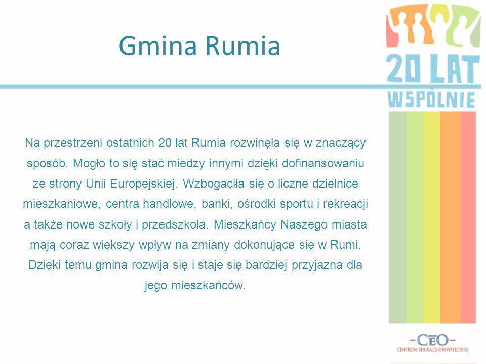Gmina Rumia Na przestrzeni ostatnich 20 lat Rumia rozwinęła się w znaczący sposób.