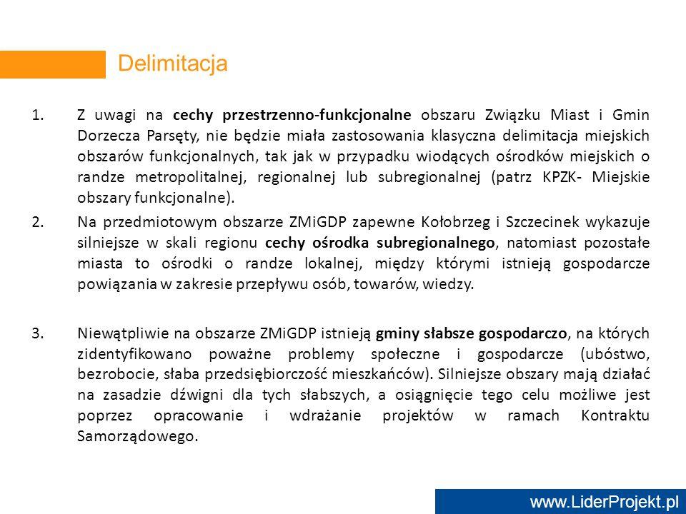 www.LiderProjekt.pl 1.Z uwagi na cechy przestrzenno-funkcjonalne obszaru Związku Miast i Gmin Dorzecza Parsęty, nie będzie miała zastosowania klasyczn