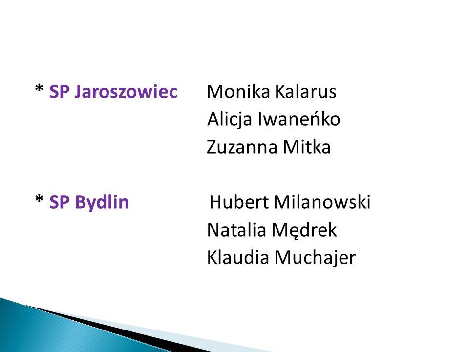 * SP Ryczówek Szymon Kozioł Mateusz Szymonek Jan Zalewski