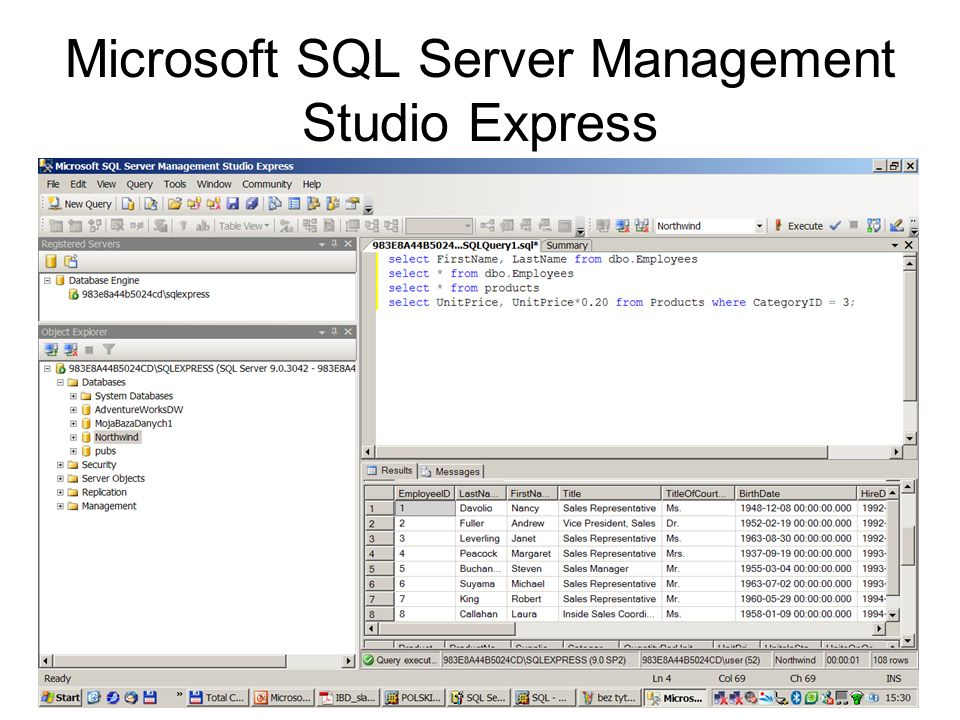 144 Microsoft SQL Server Management Studio Express