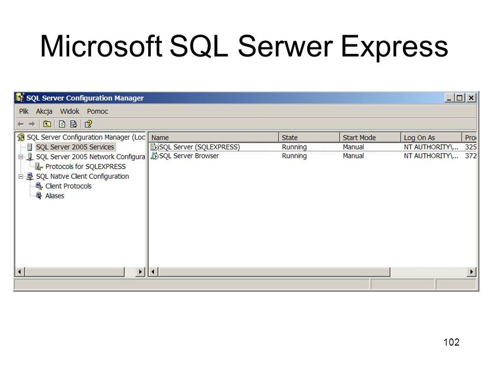 102 Microsoft SQL Serwer Express