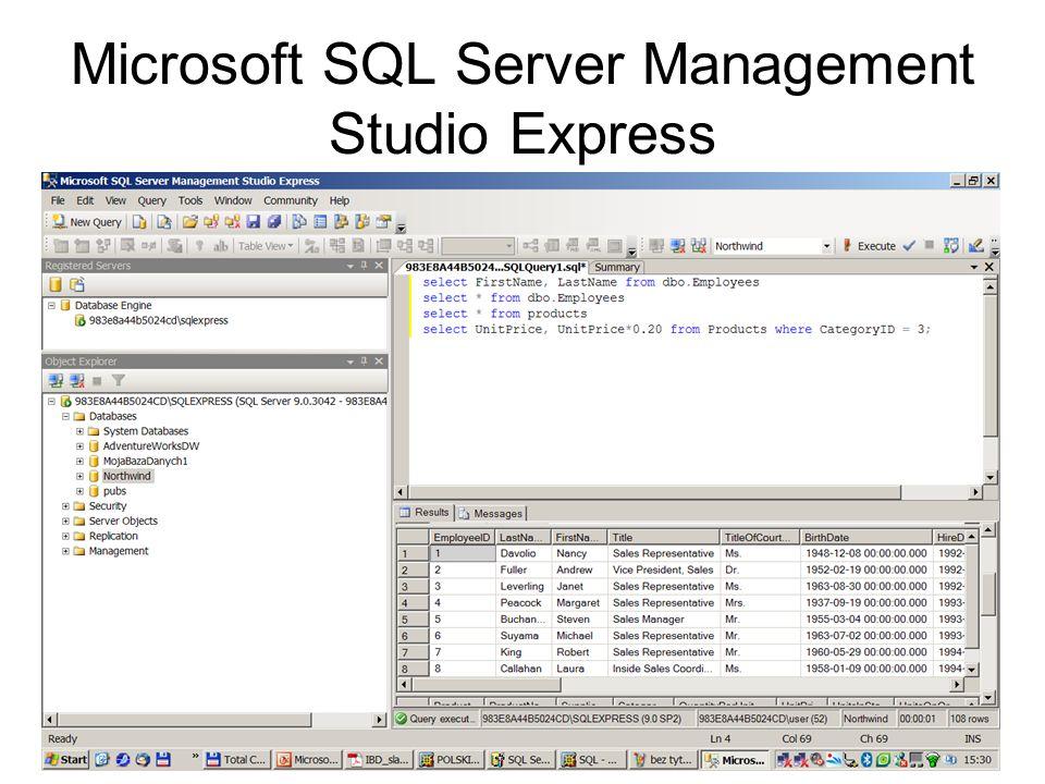 103 Microsoft SQL Server Management Studio Express