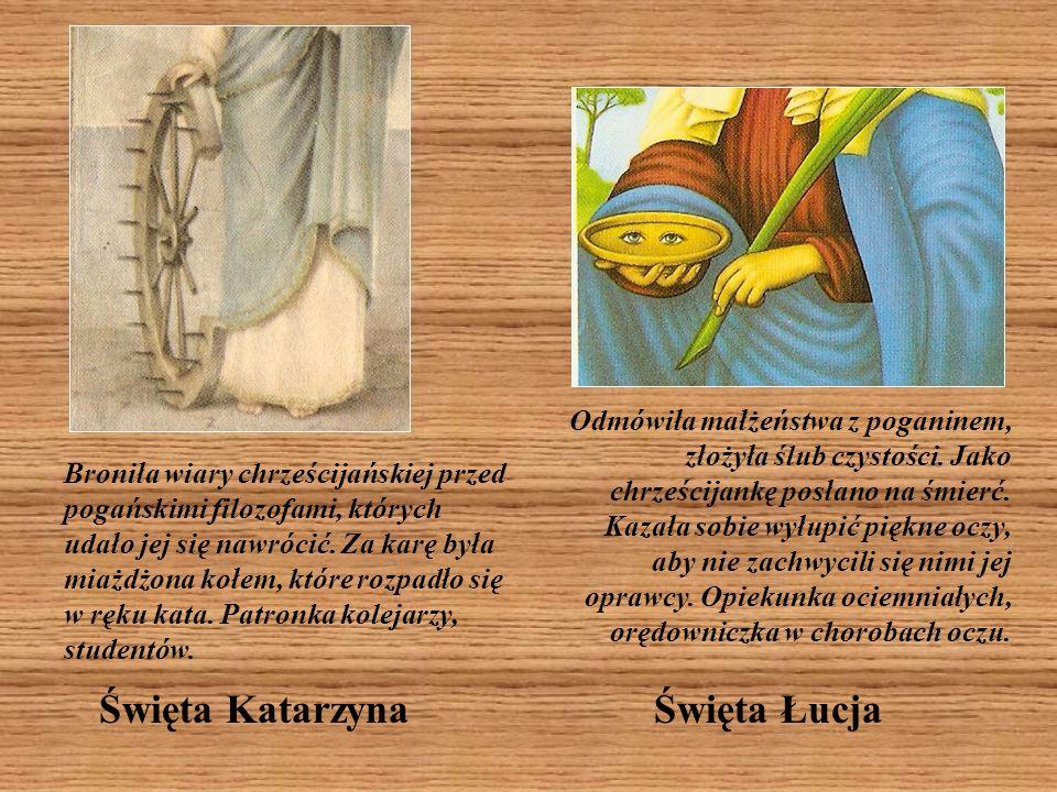 Święta Elżbieta Węgierska Święta Teresa od Dzieciątka Jezus W ikonografii jest zwykle przedstawiana z krzyżem i pękiem róż, co nawiązuje do słów, które wypowiedziała przed śmiercią: Chcę, przebywając w niebie, czynić dobro na ziemi.