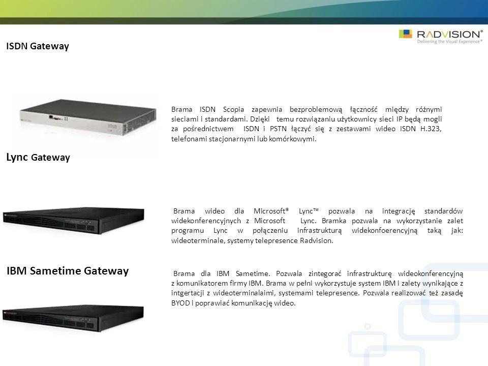 ISDN Gateway Brama ISDN Scopia zapewnia bezproblemową łączność między różnymi sieciami i standardami.