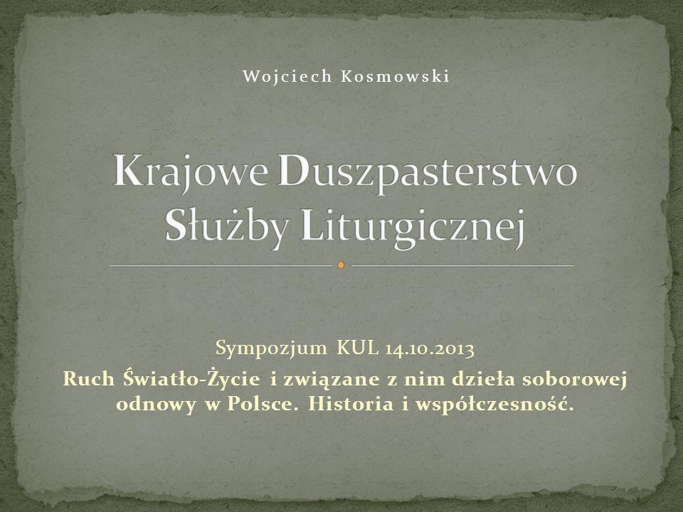 Sympozjum KUL 14.10.2013 Ruch Światło-Życie i związane z nim dzieła soborowej odnowy w Polsce.