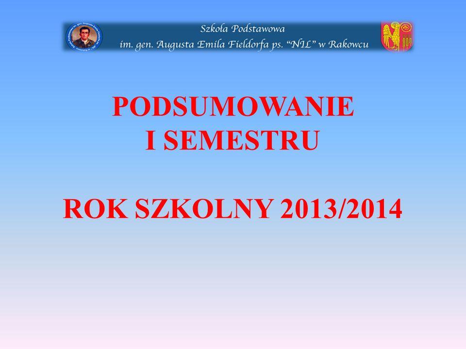 PODSUMOWANIE I SEMESTRU ROK SZKOLNY 2013/2014