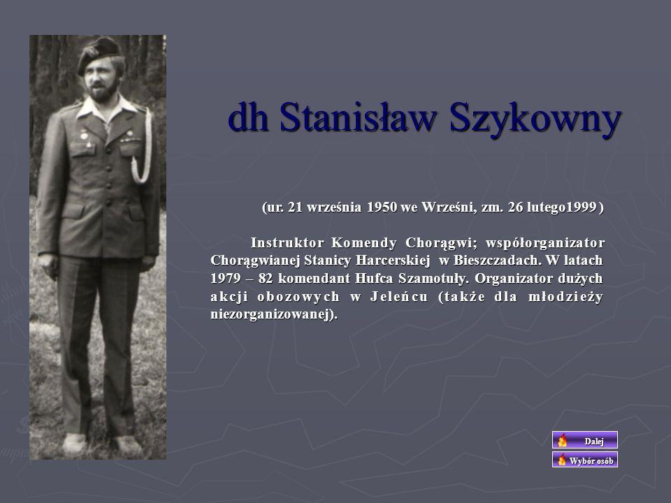 dh.Zofia Hoffmannówna - Żuromska Do harcerstwa wstąpiła w roku 1931 do I Żeńskiej DH im.