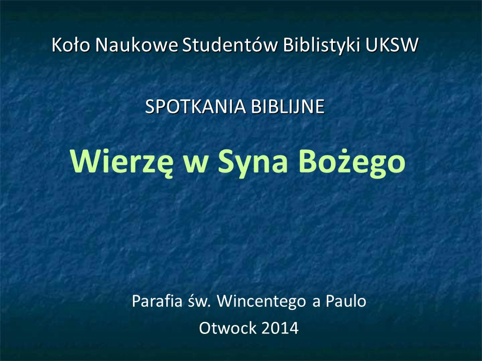 ŹRÓDŁA Wstęp ogólny do Pisma Świętego, J.Szlaga (red.), Pallotinum, Poznań-Warszawa 1986.