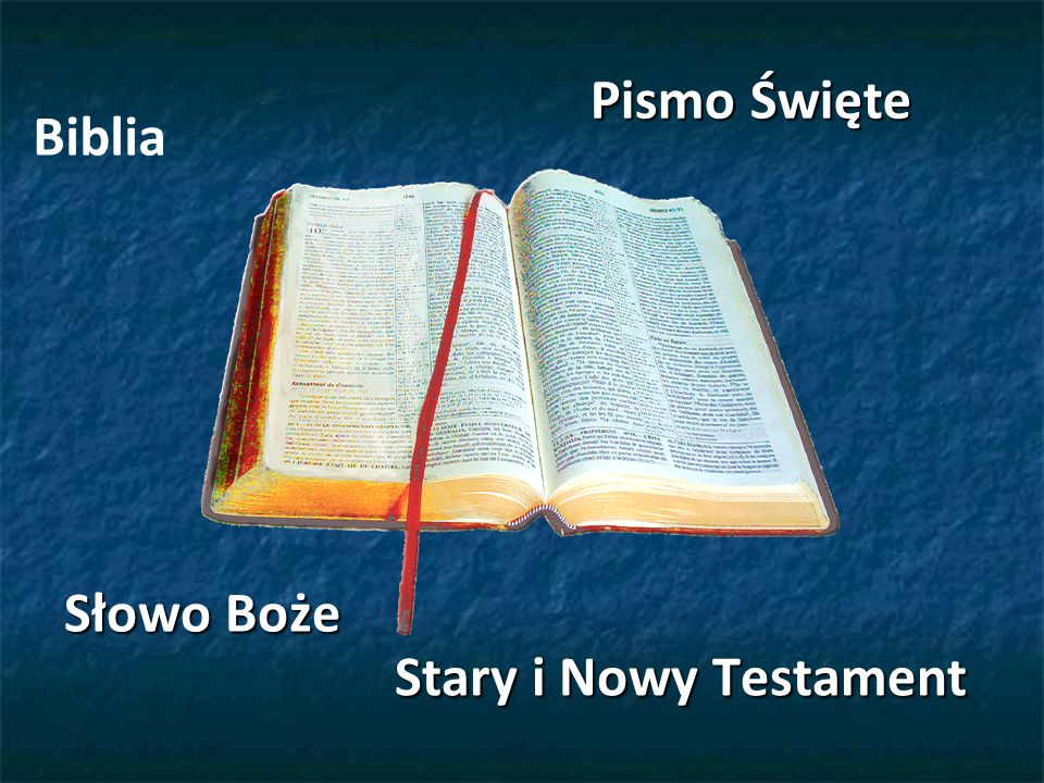 Biblia, czyli Pismo Święte jest to zbiór ksiąg, które Kościół uznaje za natchnione.