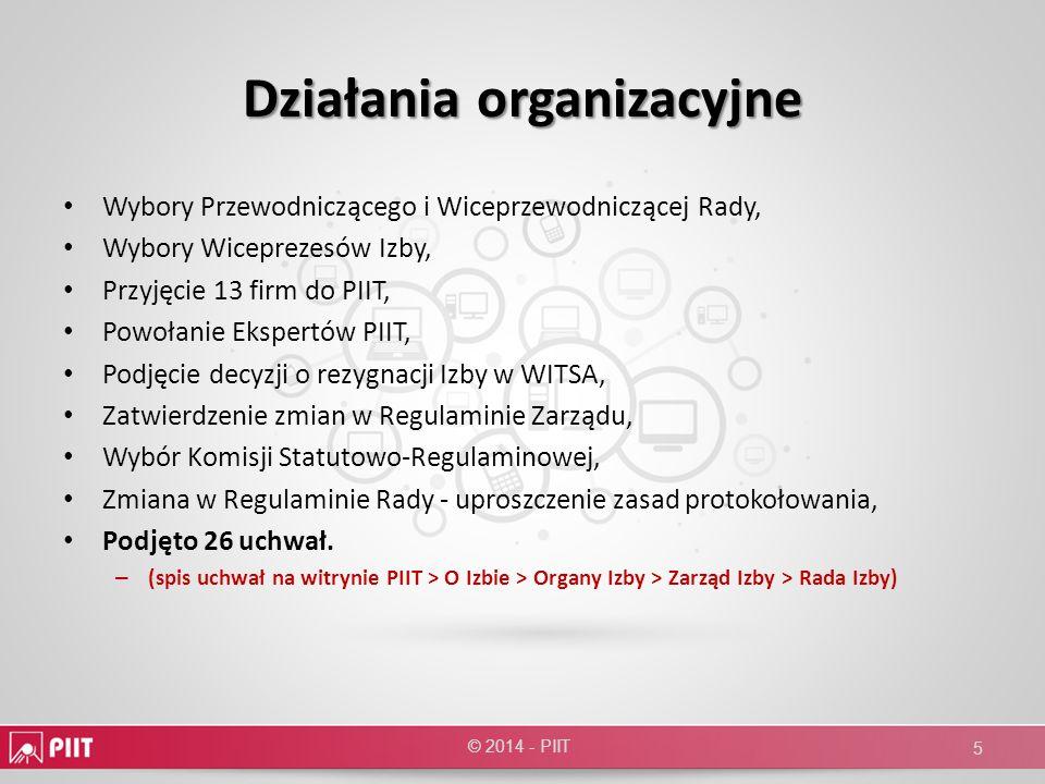 Współpraca z Rządem i Sejmem Udział Wiceprezesów w pracach Zespołu Programu Operacyjnego POPC w MIR, Spotkanie PIIT z J.