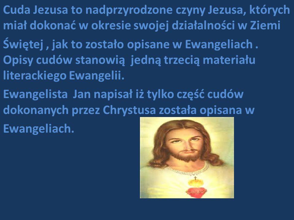 Cuda Jezusa to nadprzyrodzone czyny Jezusa, których miał dokonać w okresie swojej działalności w Ziemi Świętej, jak to zostało opisane w Ewangeliach.