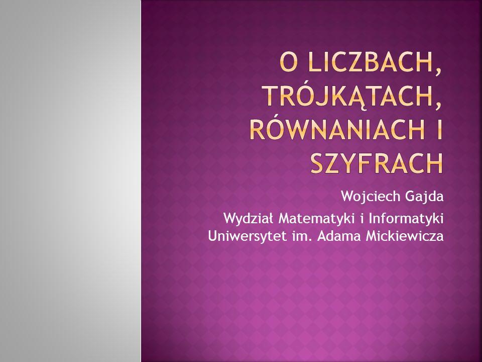 Wojciech Gajda Wydział Matematyki i Informatyki Uniwersytet im. Adama Mickiewicza