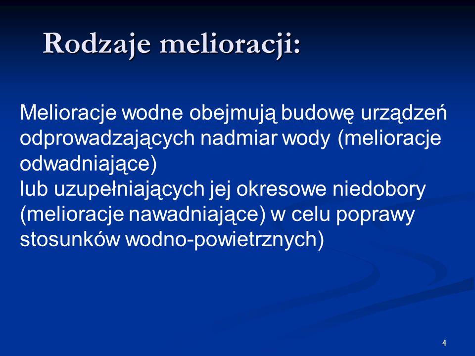 5 Rodzaje melioracji: Agromelioracje dotyczą gleb wadliwych, zarówno ciężkich jak i lekkich.