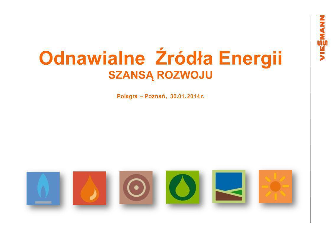 Odnawialne Źródła Energii SZANSĄ ROZWOJU Polagra – Poznań, 30.01. 2014 r.
