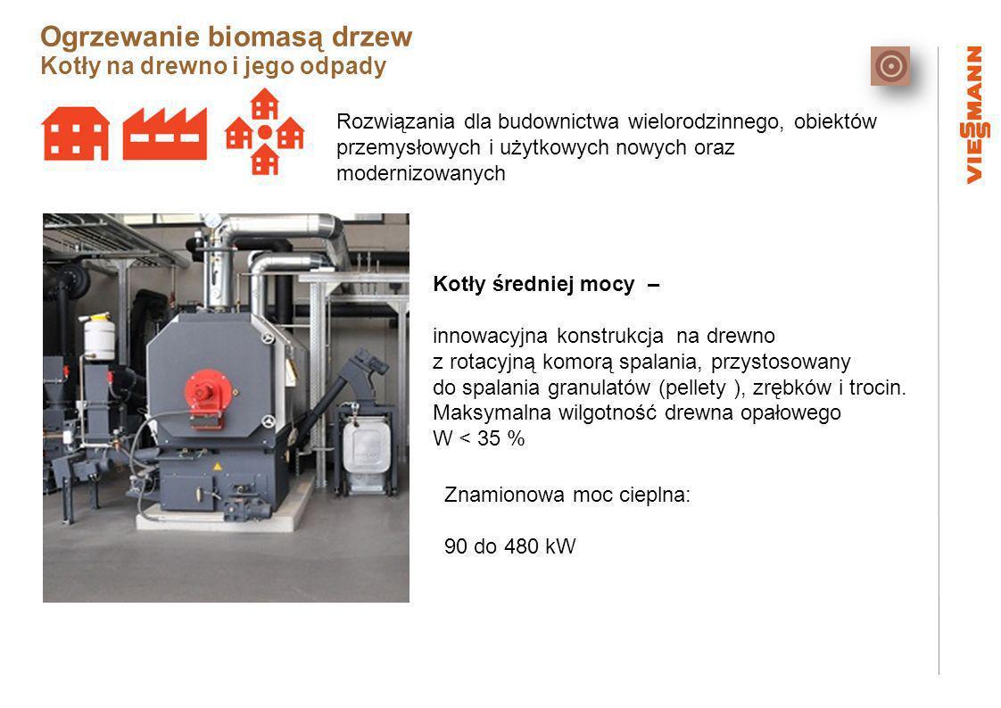 Rozwiązania dla budownictwa wielorodzinnego, obiektów przemysłowych i użytkowych nowych oraz modernizowanych Kotły średniej mocy – innowacyjna konstrukcja na drewno z rotacyjną komorą spalania, przystosowany do spalania granulatów (pellety ), zrębków i trocin.