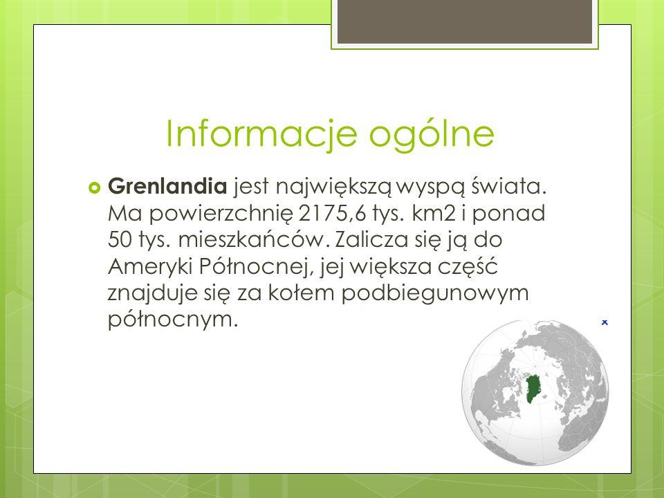 Historia Grenlandii Grenlandia nie była znana Europejczykom do X w., kiedy to odkryli ją norwescy wikingowie, którzy zabłądzili w drodze do Islandii.