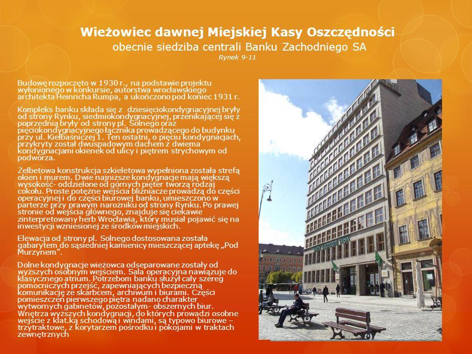 Dawna Poczta Główna Hauptpostamt ul.Wita Stwosza 25/26 Ukończony w 1888 r.
