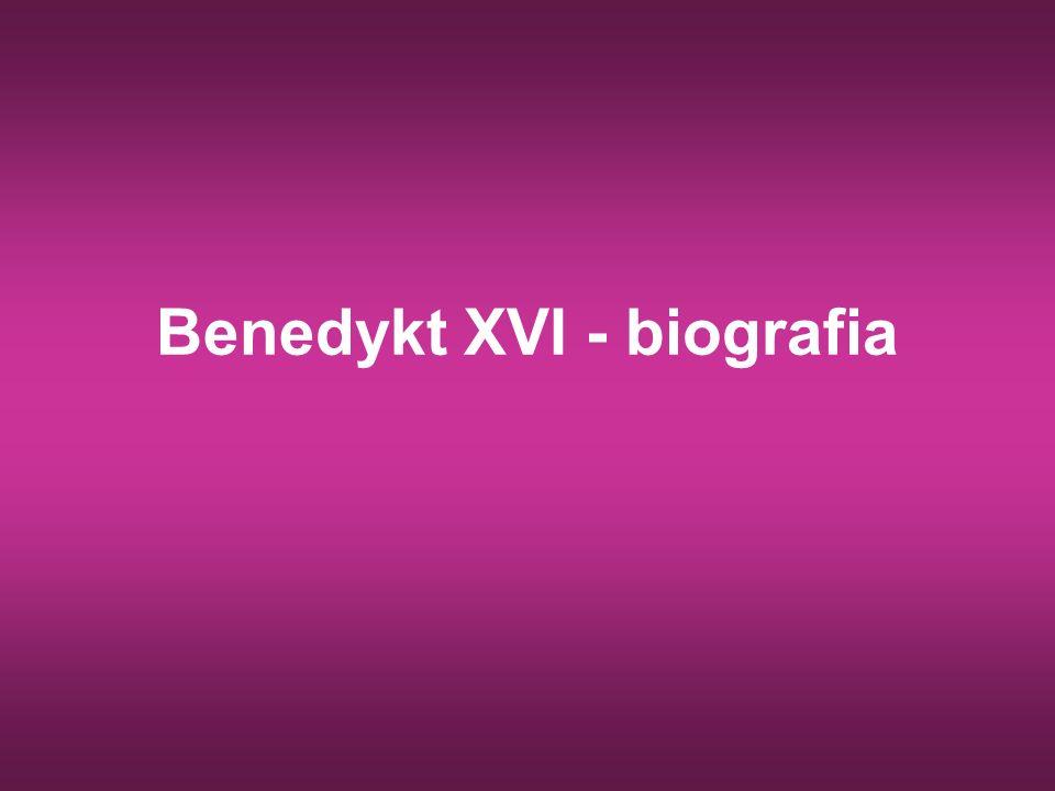 Benedykt XVI - biografia