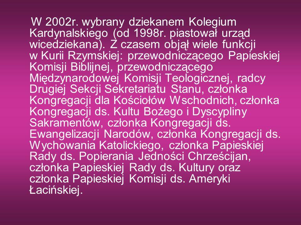 W 2002r. wybrany dziekanem Kolegium Kardynalskiego (od 1998r. piastował urząd wicedziekana). Z czasem objął wiele funkcji w Kurii Rzymskiej: przewodni