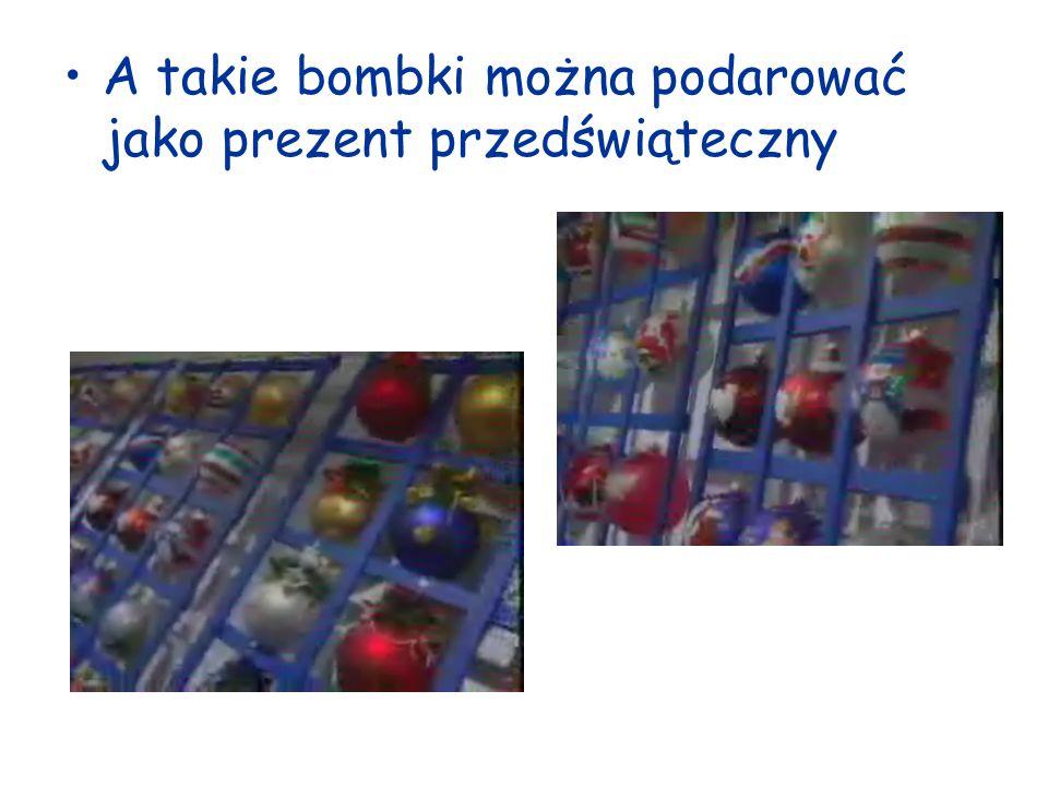 A takie bombki można podarować jako prezent przedświąteczny