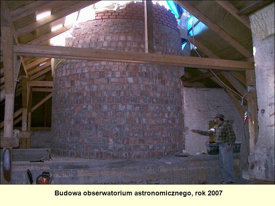 Budowa obserwatorium astronomicznego, rok 2007