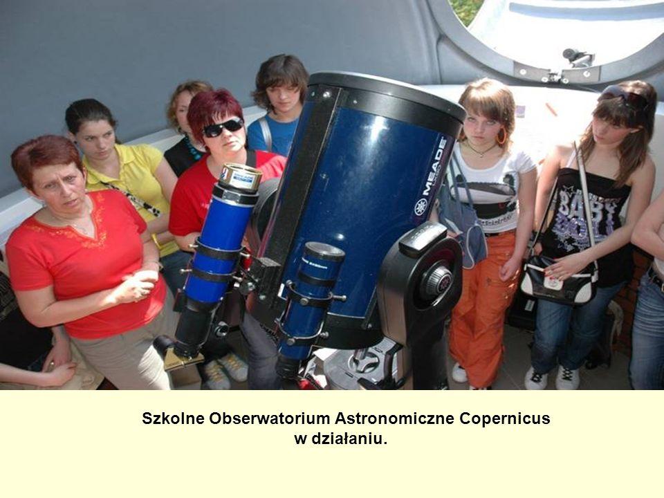 Szkolne Obserwatorium Astronomiczne Copernicus w działaniu.